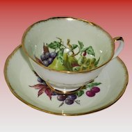 Royal Grafton Mint Green Cup And Saucer