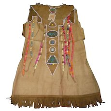 Vintage Campfire Girl Ceremonial Uniform with Wooden Beads