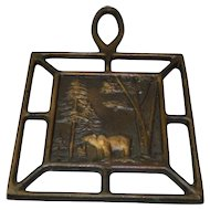 Vintage Copper Art Bear Trivet
