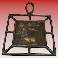 Vintage Copper Art Bear Trivet