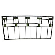 Antique Green and Clear Stained Glass Window / Panel