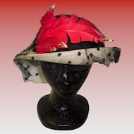 Vintage 1940's Hat By Doris Designed