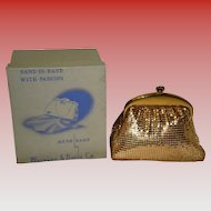 Vintage Whiting And Davis Gold Mesh Evening Bag With Original Box