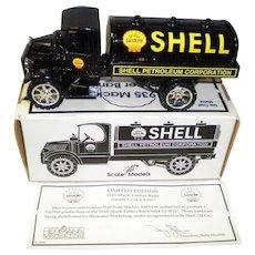 Ertl Die Cast Metal Shell 1935 Mack Tanker Bank