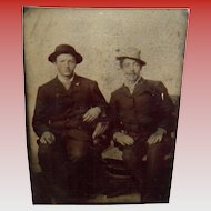 Antique Tintype Of Two Gentlemen