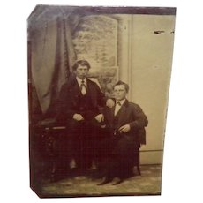 Antique Tintype Of Two Men