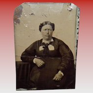 Antique Tintype Of a Women