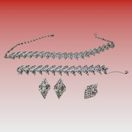 Vintage Sarah Coventry 4 pc. Parisienne Nights Parure Rhinestone Set