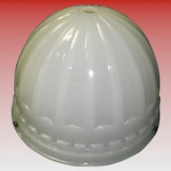 1913 Brascolite Luminous Unit  Milk Glass Industrial Light Fixture Shade Dome
