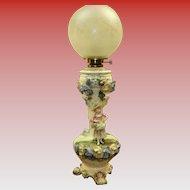 Capodimonte Banquet Lamp Circa 1880