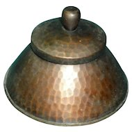 Arts and Crafts Movement Roycroft Hammered Copper Inkwell