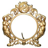 Gilded Cast Iron Art Deco Picture Frame