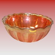 Vintage Marigold Iridescent Carnival Glass Bowl