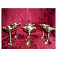 Set Of 6 Spanish Silver Plated Goblets From Plador Spain