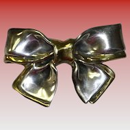 Vintage Sterling Silver Bow Pin / Brooch