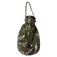 Vintage Whiting & Davis Expandable Silver Mesh Metal Purse