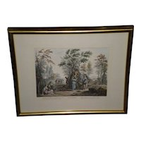 "Giuseppe Zocchi Framed Color Print  Titled ""Settembre"""