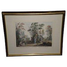 "Giuseppe Zocchi Framed Color Print  Titled ""Settembre"""