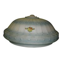 Antique Hand Painted Glass Ceiling Globe / Shade