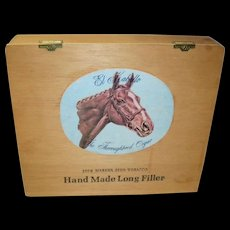 Vintage El Kaballo Thoroughbred Cigar Box