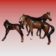 Golden Crown Ebeling & Reuss (E & R) Horse Figurines