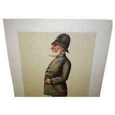 "Vanity Fair 1884 Spy Print Inspector Ebenezer Denning ""Parliamentary Police""."