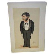 "Vanity Fair Print ""English Music"" 1874 Arthur Sullivan With Newspaper Article"