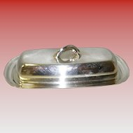 3 Pc. Silver Plated Butter Dish