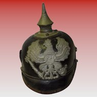 WW1 German Leather Pickelhaube Spike Helmet