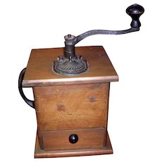 Primitive Coffee Grinder With Side Handle