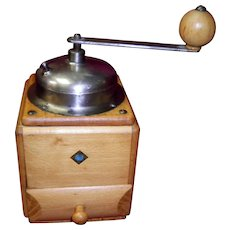 Vintage Top Crank Coffee Grinder by Overseas Housewares Co
