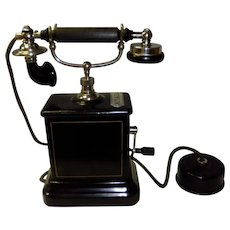 Antique Victorian K.T.A.S Kjobenhavns Telefon Aktieselskab Hand Crank Phone