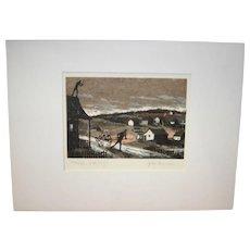 "Signed John Mosiman ""Fiddler on the Roof"" Serigraph Print"