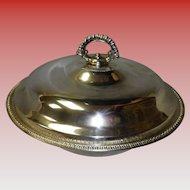 William Rogers Silverplate Covered Serving Dish With Pyrex Bowl