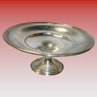 Gorham Silverplate Pedestal Serving Dish Nut / Candy