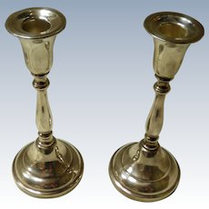 Pair Of Sheffield Silverplate Candle Holders