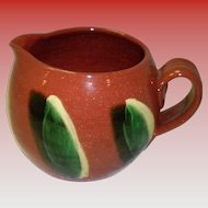 Museum Editions Limited Redware Pottery Corn Cob Creamer Signed Dorothy Long With COA