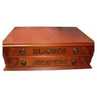 Antique Clark's Mile End 2 Drawer Spool Cabinet