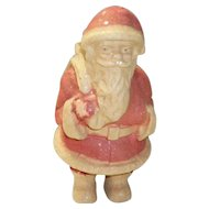 Antique Paper Mache Pulp Santa Candy Container / Holder 9""