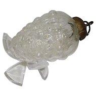 Kugel Grape Cluster Clear Glass Ornament