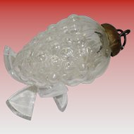 Kugel Grape Cluster Clear Glass Ornament