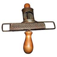 Antique 1896 Metal and Wood Nutmeg Spice Grader / Grinder
