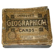 190 Antique 1883 Geographical Cards by Freeman & Riddle