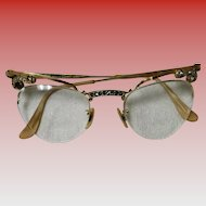 Vintage 1950's Bausch & Lomb 12K Gold Filled Cat Eye Glasses