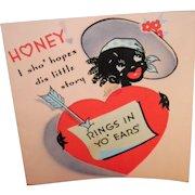 Vintage Black Americana Valentine's Card