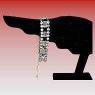 Vintage Kramer Rhinestone Bracelet