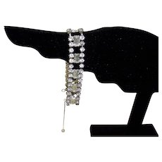Vintage Rhinestone Bracelet by Kramer Of New York