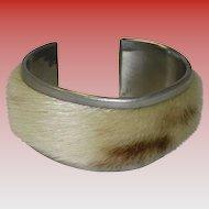 O. B. I. Fur Pewter Bracelet Norway