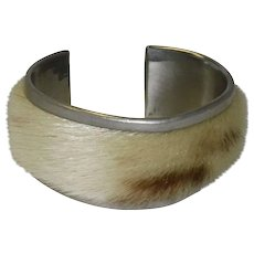 O. B. I. Fur Pewter Bracelet Norway