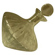 Heavy Lead Crystal Ship Captain's Pointed Side Rest Decanter
